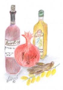 מניעת טרשת עורקים, אירוע לב ושבץ מוחי על ידי שימוש ביין אדום, מיץ רימונים, שמן זית ותמר